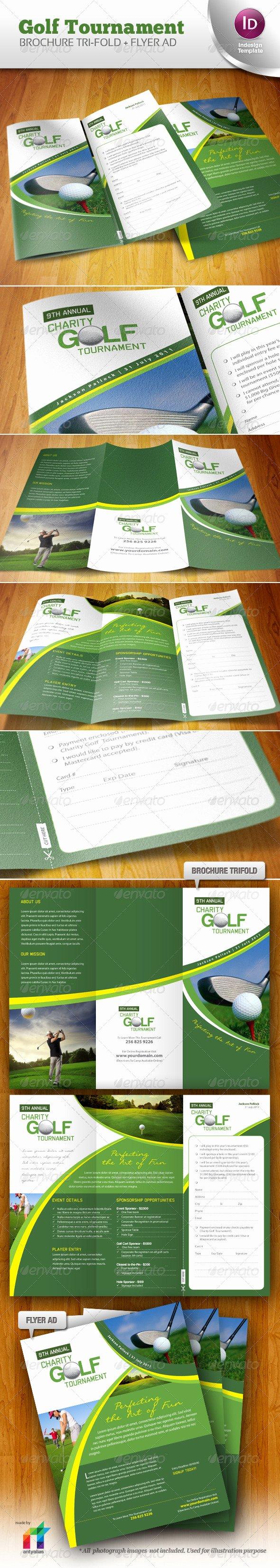 Golf tournament Brochure Template Best Of Golf tournament Brochure Trifold Flyer Ad