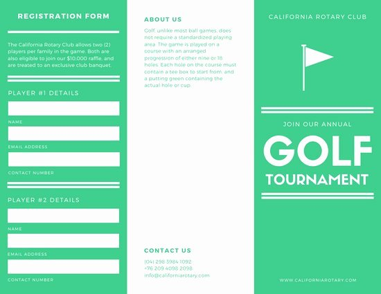 Golf tournament Brochure Template Elegant Customize 849 Trifold Brochure Templates Online Page 6 Canva