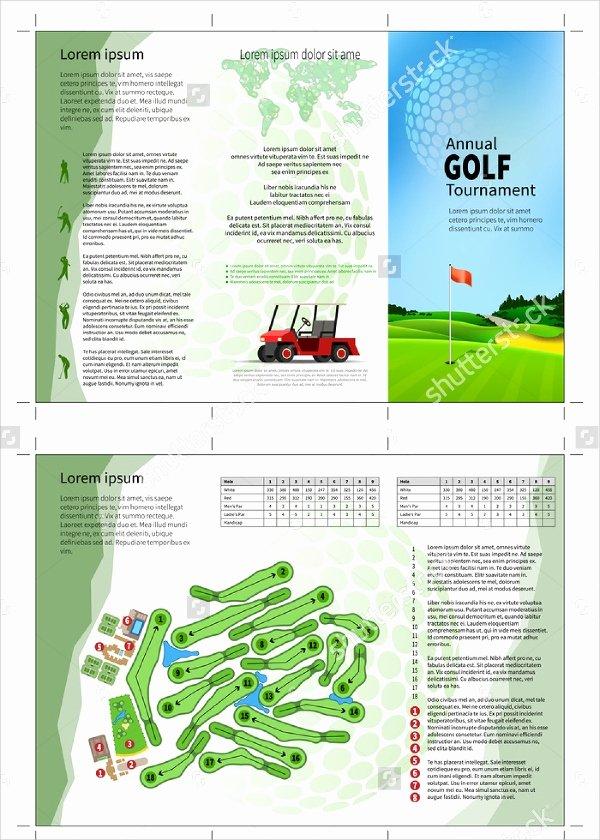 Golf tournament Brochure Template Elegant Golf tournament Brochure 20 Download In Vector Eps Psd
