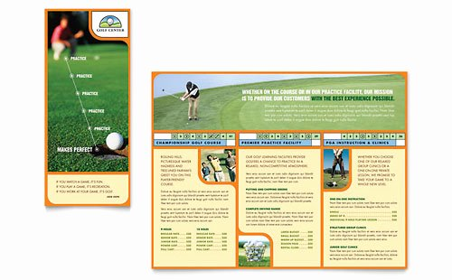 Golf tournament Brochure Template Elegant Golf tournament Flyer Template Word & Publisher