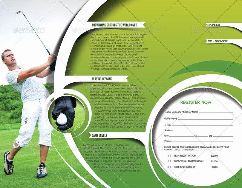 Golf tournament Brochure Template Elegant Golf tournament Trifold Brochure Template by Redshinestudio