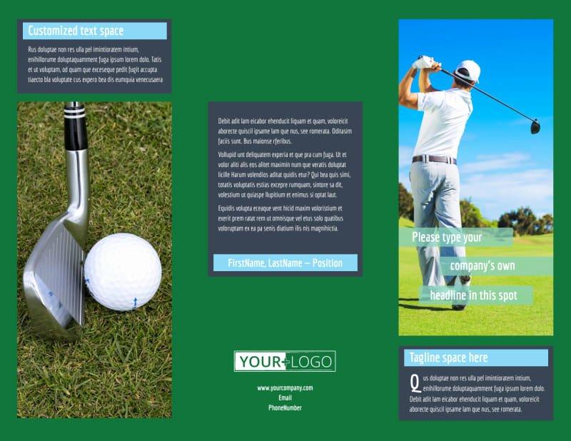 Golf tournament Brochure Template Elegant Local Golf tournament Brochure Template