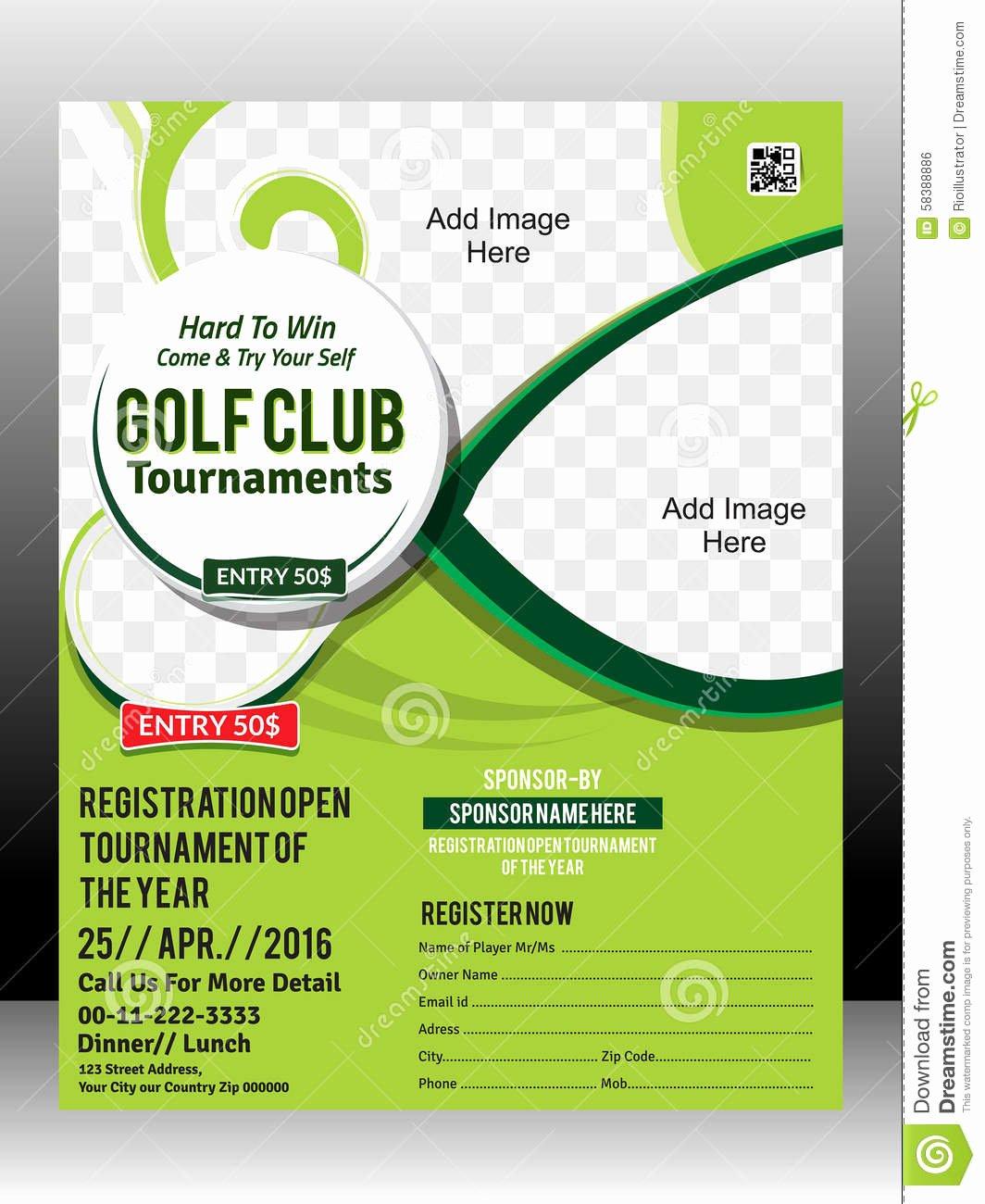 Golf tournament Brochure Template Fresh Free Golf tournament Flyer Template – Emmamcintyrephotography