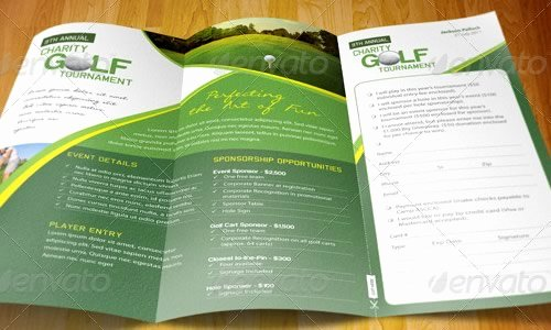 Golf tournament Brochure Template Inspirational Web and Designers