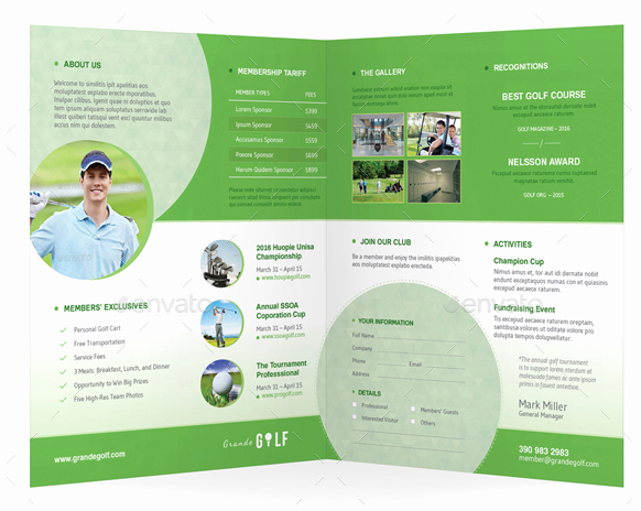 Golf tournament Brochure Template Lovely 10 Popular Free and Premium Golf Brochure Templates & Designs to Download