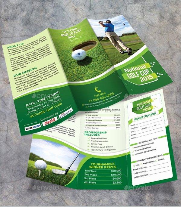 Golf tournament Brochure Template Luxury Golf tournament Brochure 20 Download In Vector Eps Psd