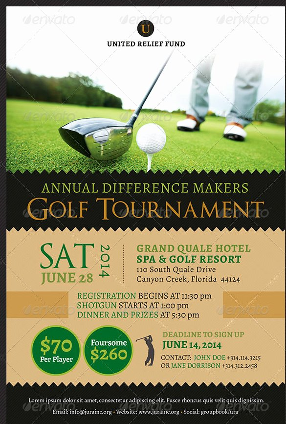 Golf tournament Flyer Template Awesome 48 Fundraiser Flyer Templates Psd Eps Ai Word