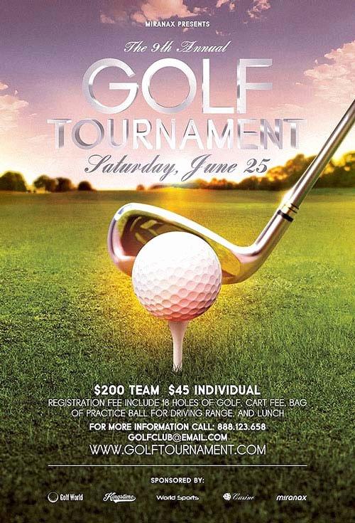 Golf tournament Flyer Template Beautiful Annual Golf tournament Flyer Template Premium Flyer