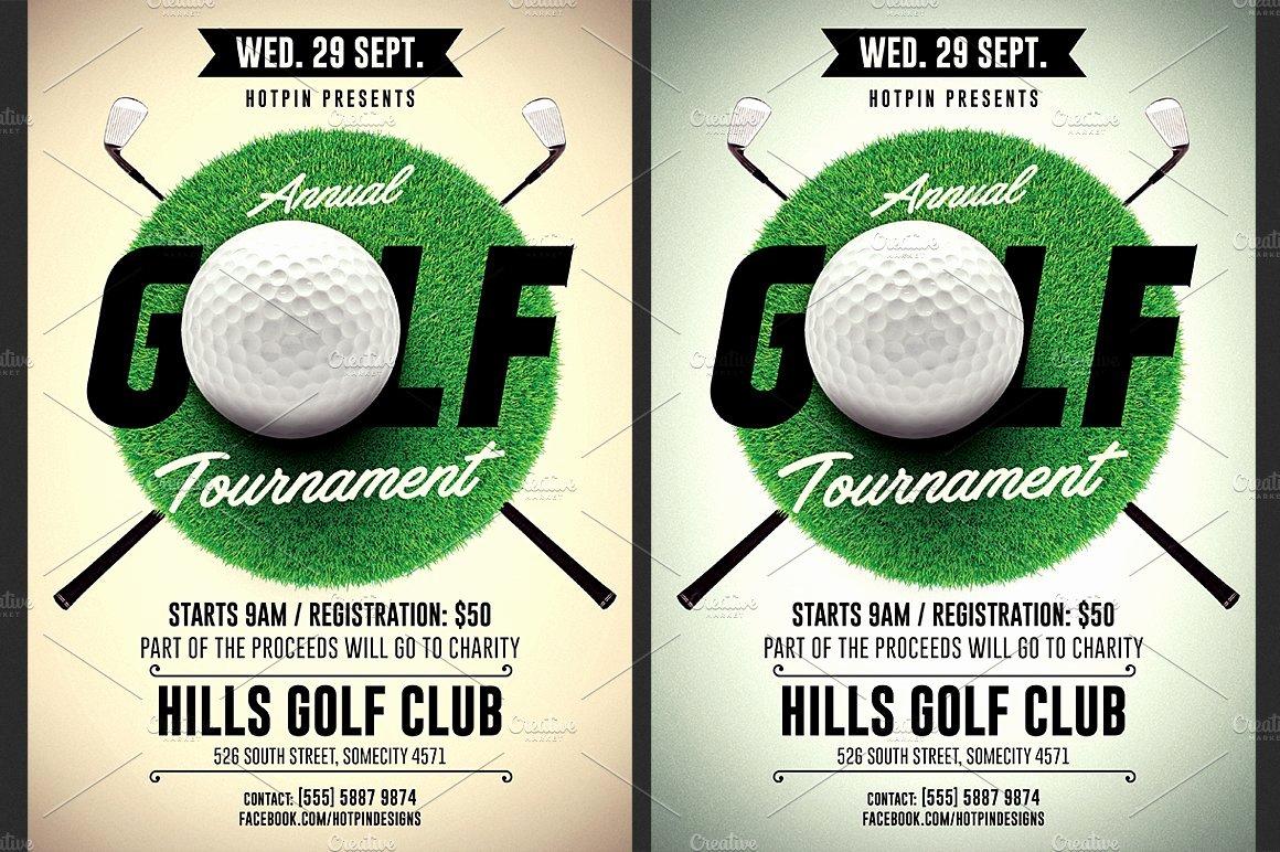 Golf tournament Flyer Template Beautiful Golf tournament Flyer Template Flyer Templates Creative Market