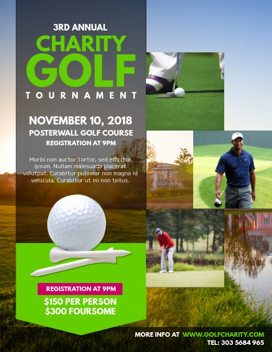 Golf tournament Flyer Template Elegant Customize 260 Golf Templates