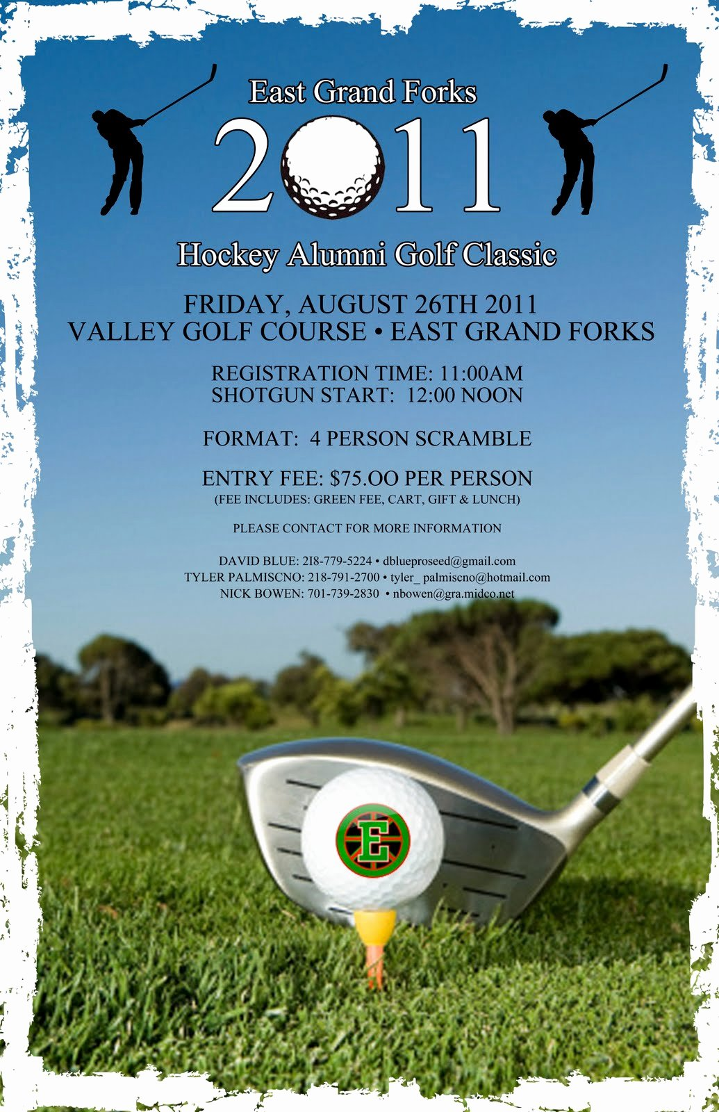 Golf tournament Flyer Template Elegant East Grand forks Greenwave Hockey Golf tournament