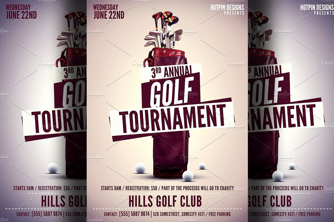 Golf tournament Flyer Template Elegant Golf tournament Flyer Template Flyer Templates Creative Market