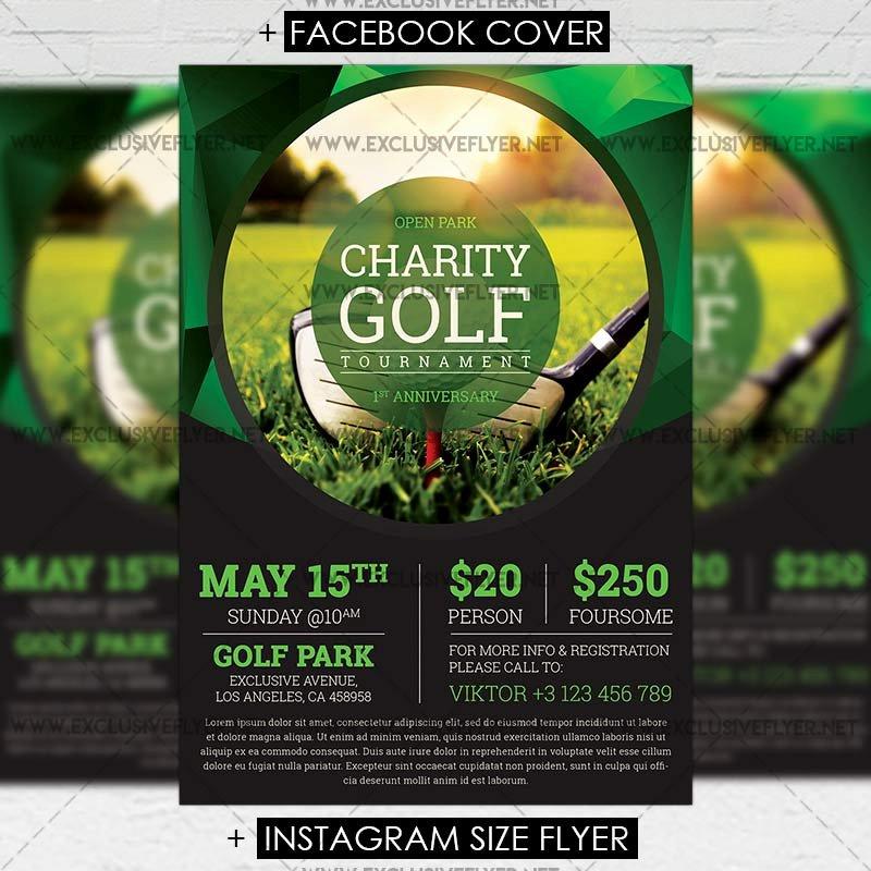 Golf tournament Flyer Template Elegant Golf tournament – Premium A5 Flyer Template Exclsiveflyer