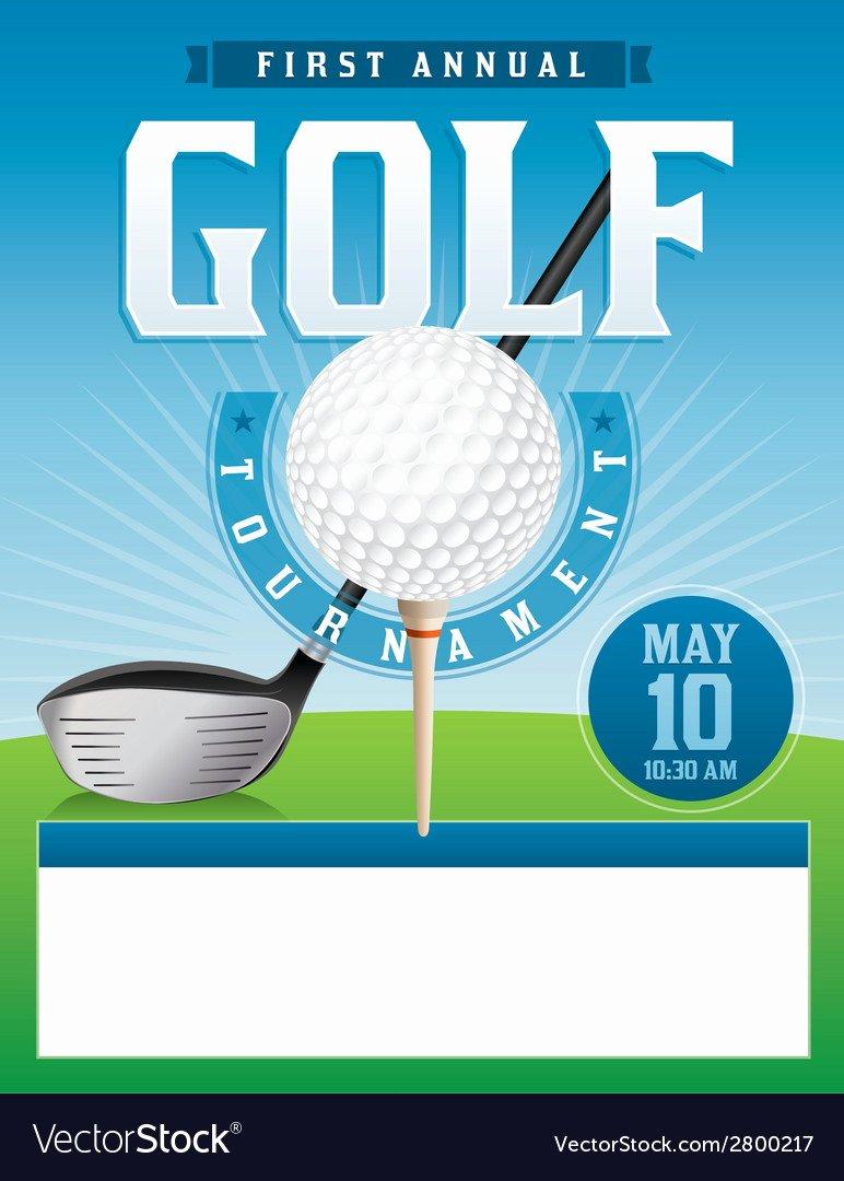 Golf tournament Flyer Template Inspirational Golf tournament Flyer Royalty Free Vector Image