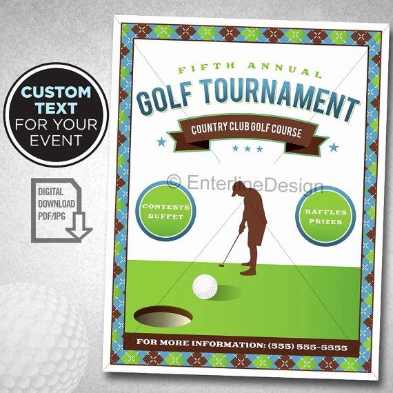 Golf tournament Flyer Template Lovely Golf tournament Flyer Poster Template Invitation Custom