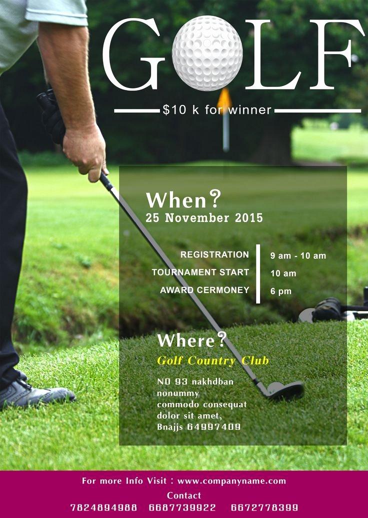 Golf tournament Flyer Template New Golf tournament Flyer Template Free