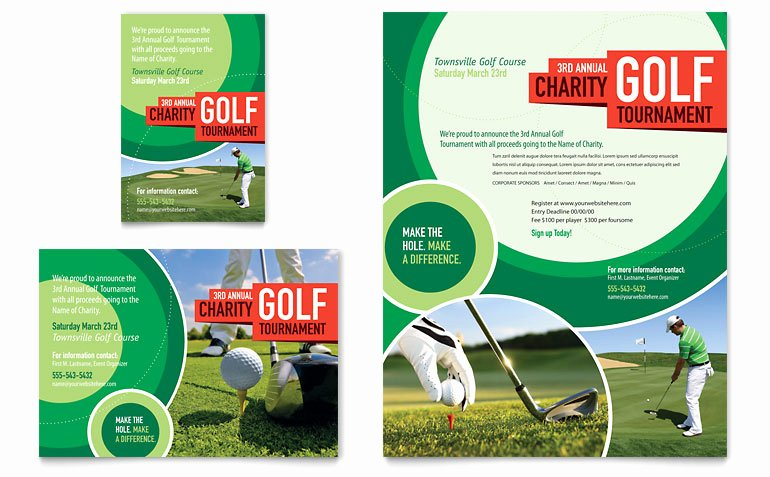 Golf tournament Flyer Templates Awesome Golf tournament Flyer & Ad Template Word & Publisher