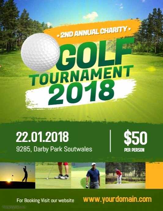 Golf tournament Flyer Templates Beautiful Charity Golf tournament Flyer Poster Sports event Flyer Template