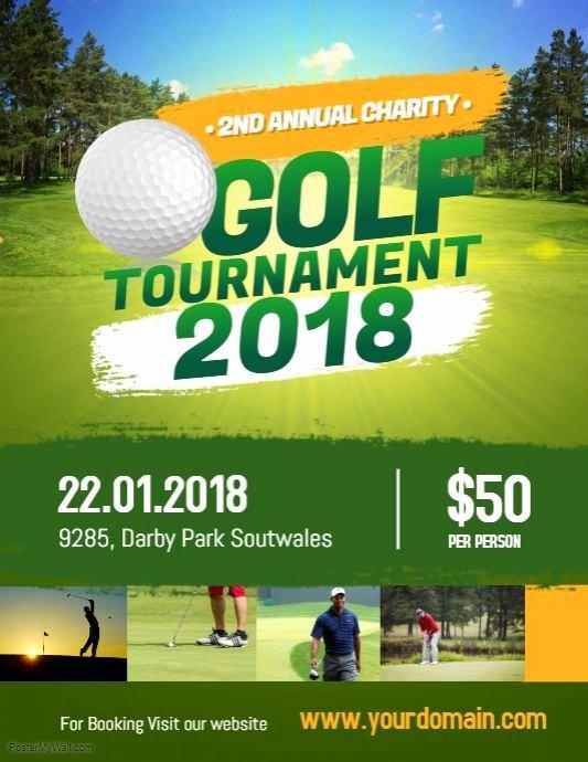 Golf tournament Flyer Templates Beautiful Charity Golf tournament Flyer Poster Sports event Flyer Template