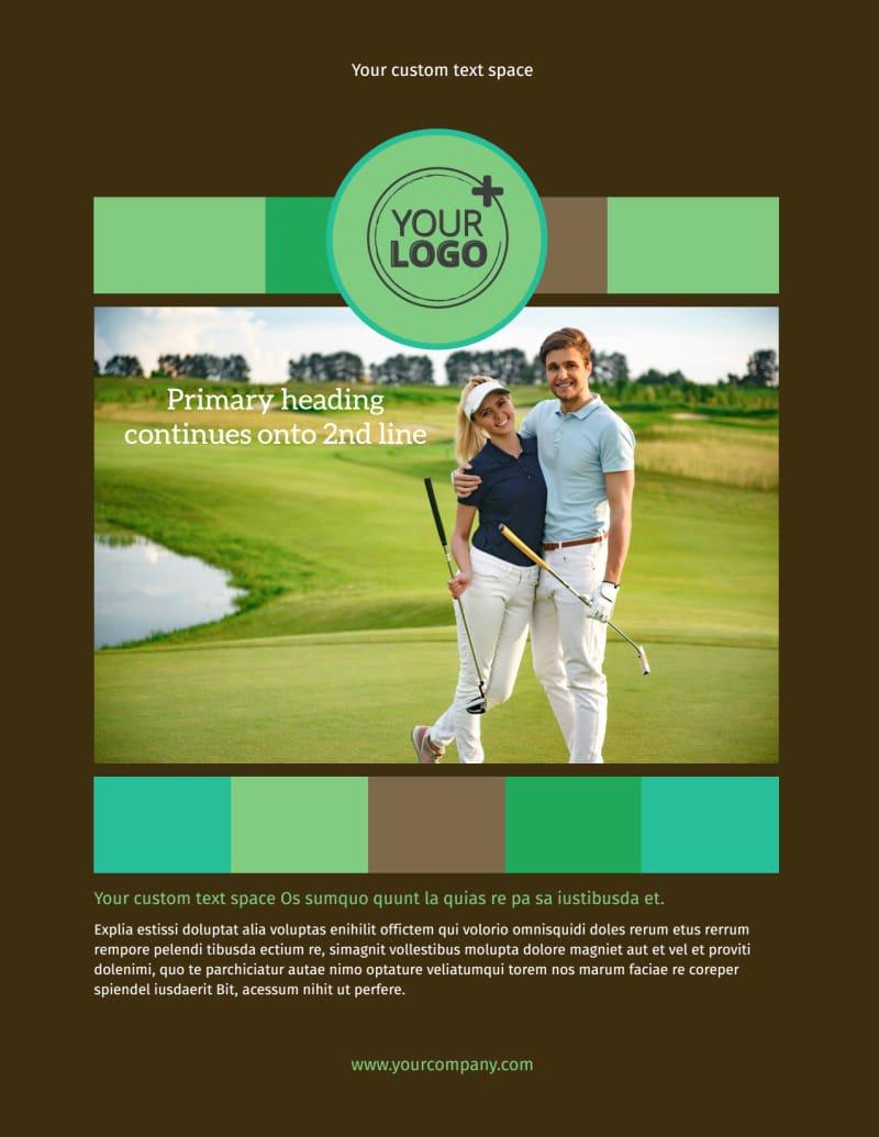 Golf tournament Flyer Templates Elegant Golf tournament Flyer Template