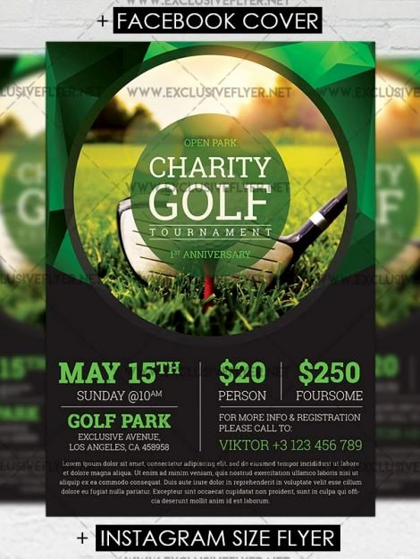 Golf tournament Flyer Templates Fresh Golf tournament – Premium A5 Flyer Template Exclsiveflyer