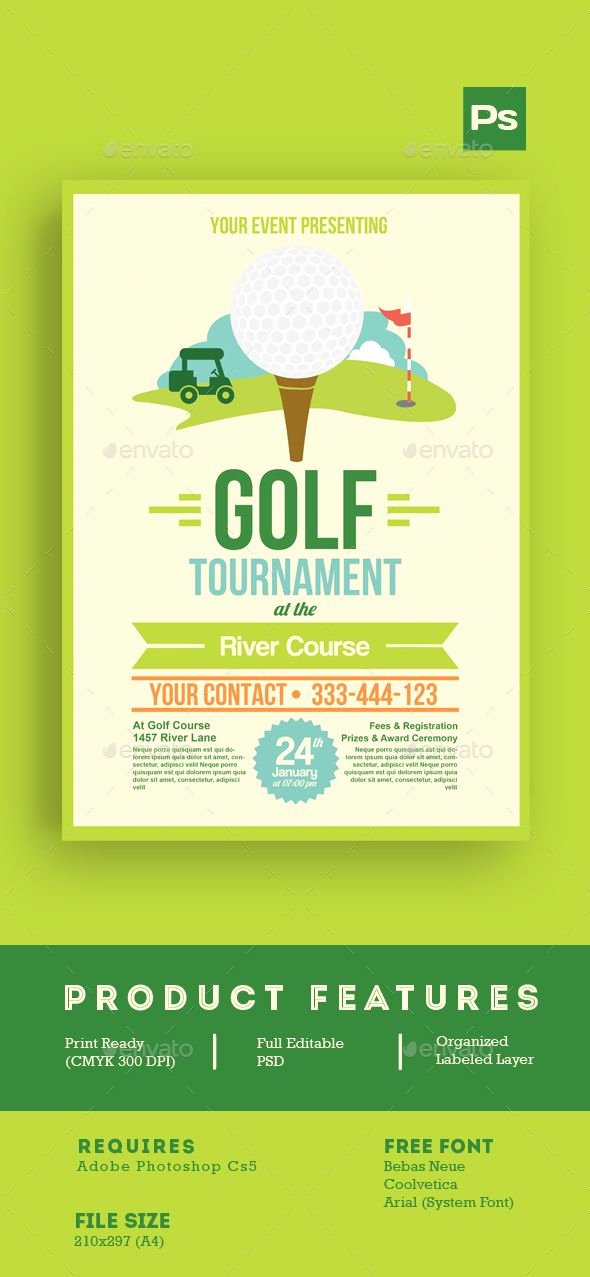 Golf tournament Flyer Templates Inspirational Golf tournament Flyer Tamplate