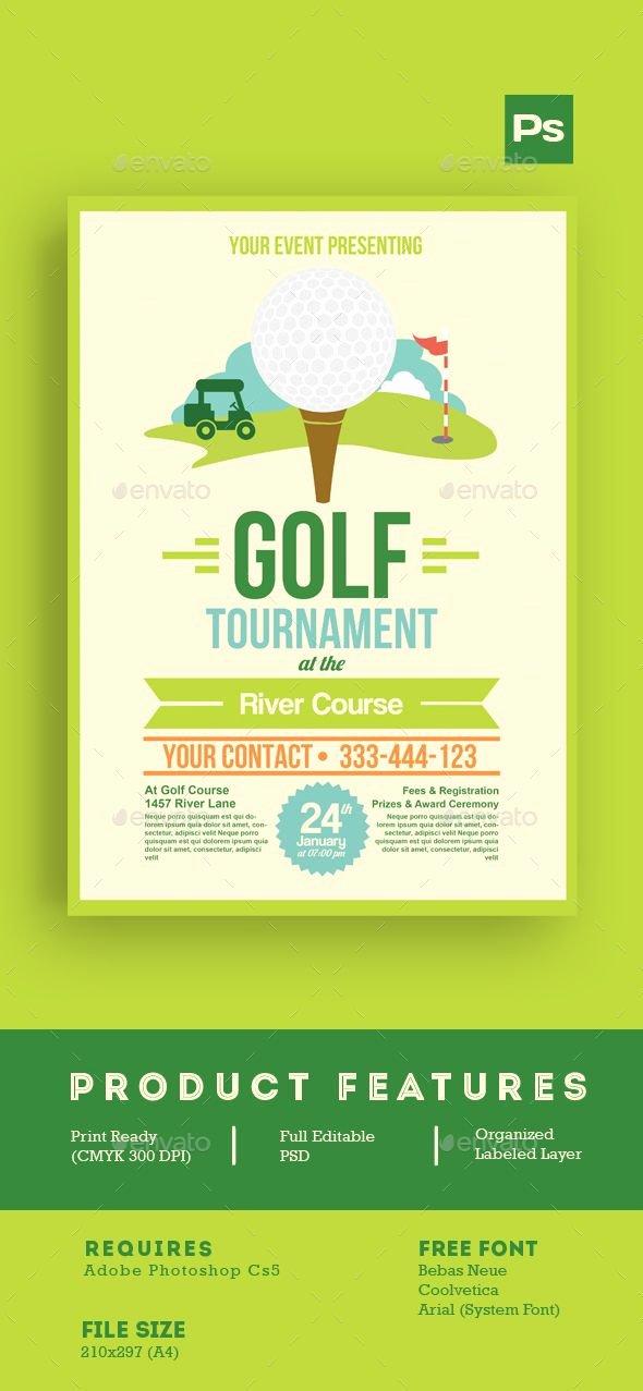 Golf tournament Flyer Templates Inspirational Golf tournament Flyer Tamplate