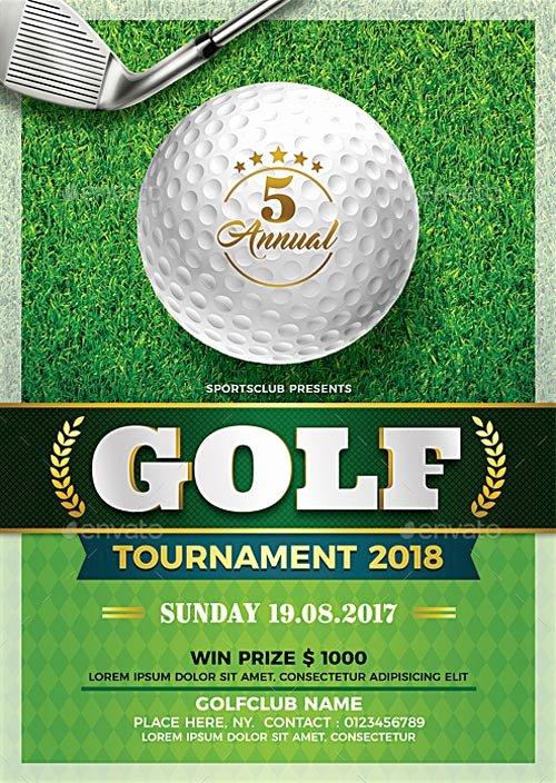 Golf tournament Flyer Templates Inspirational Golf tournament Flyer Template Flyer for Sport events