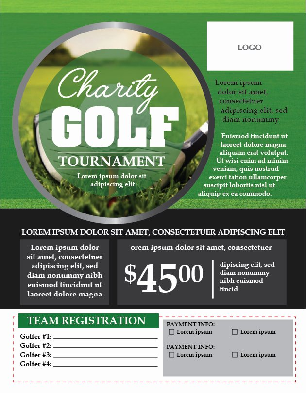 Golf tournament Flyer Templates Lovely Charity Golf tournament Flyer Template