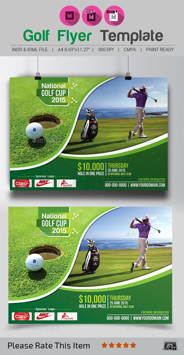 Golf tournament Flyer Templates Lovely Golf Flyer Template by Aam360