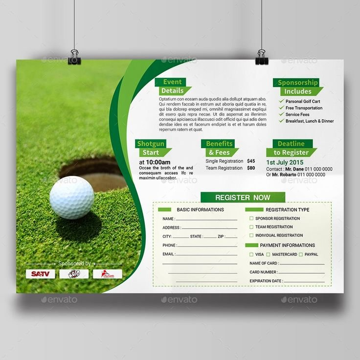 Golf tournament Flyer Templates Luxury 28 Best Golf tournament Images On Pinterest