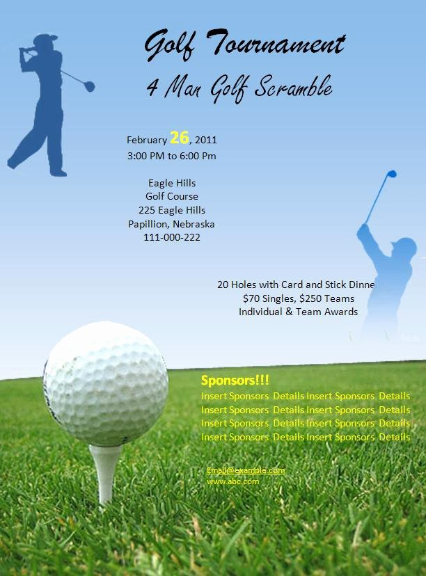 Golf tournament Flyer Templates New Free Golf tournament Flyer Template – Emmamcintyrephotography