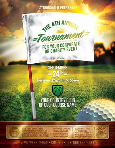 Golf tournament Flyers Template Fresh Golf tournament event Flyer Template On Behance