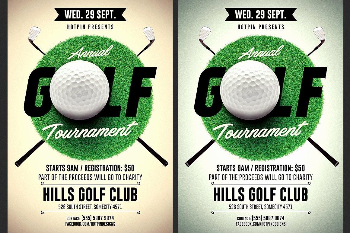 Golf tournament Flyers Template Fresh Golf tournament Flyer Template Flyer Templates
