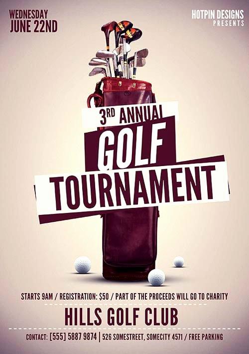 Golf tournament Flyers Template New Modern Golf tournament Flyer Template Download Premium