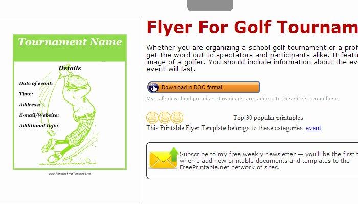 Golf tournament Flyers Template Unique 5 Free Golf tournament Flyer Templates