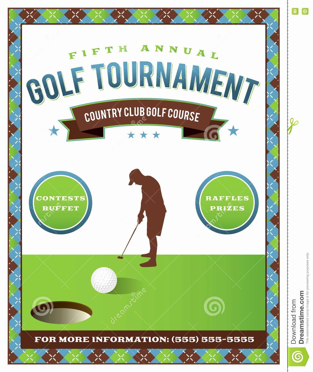 Golf tournament Flyers Template Unique Free Golf tournament Flyer Template