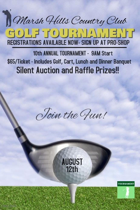 Golf tournament Flyers Template Unique Golf tournament Poster Template
