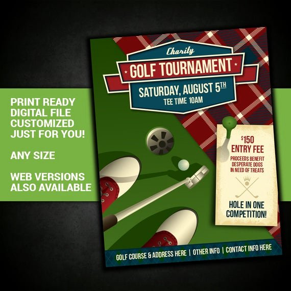 Golf tournament Fundraiser Flyer Awesome Golf tournament Golf tournament event Charity