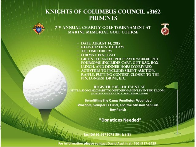 Golf tournament Fundraiser Flyer Awesome Knights Golf tournament Flyer