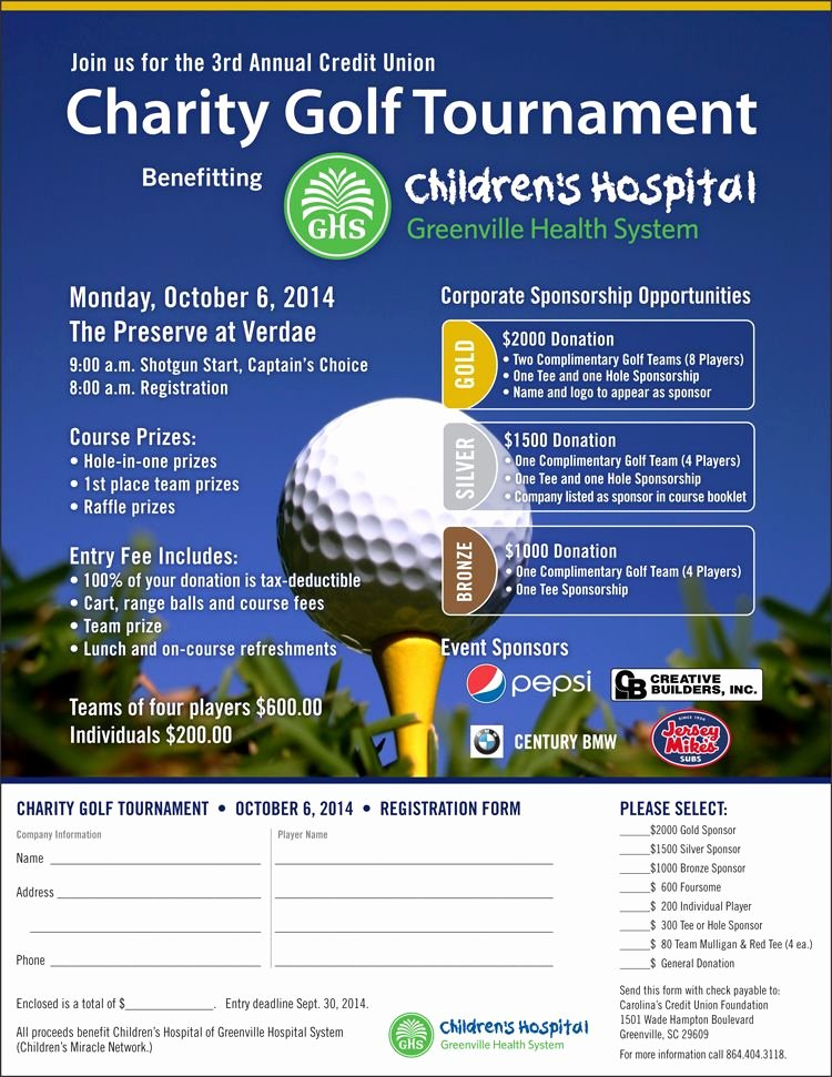 Golf tournament Fundraiser Flyer Elegant Childrens Golf Flyer Google Search Closest to the Heart Golf Outing Pinterest