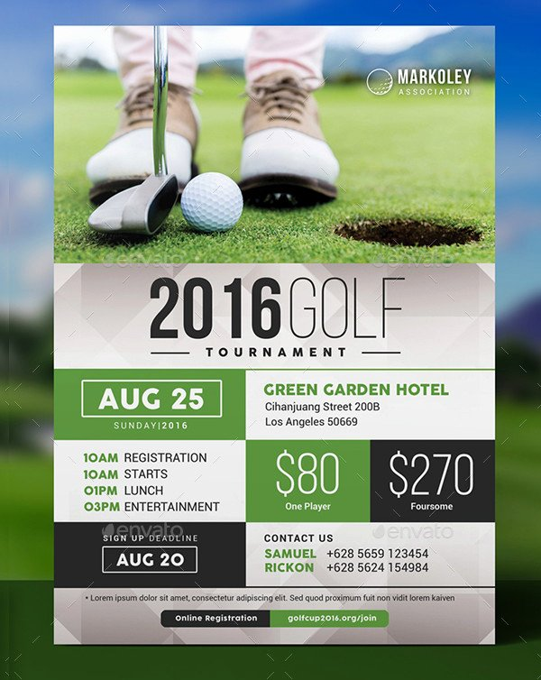 Golf tournament Fundraiser Flyer Fresh 27 Golf tournament Flyer Templates Free & Premium Download