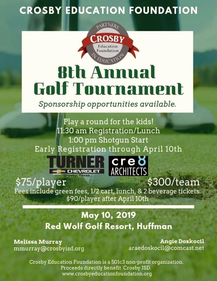 Golf tournament Fundraiser Flyer Fresh Crosby Education Foundation Golf tournament Fundraiser Ing Up On May 10 Houston Chronicle