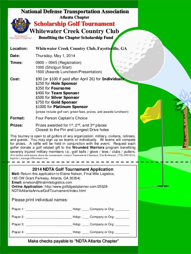 Golf tournament Fundraiser Flyer Fresh Ndta Golf tournament Flyer May 2014
