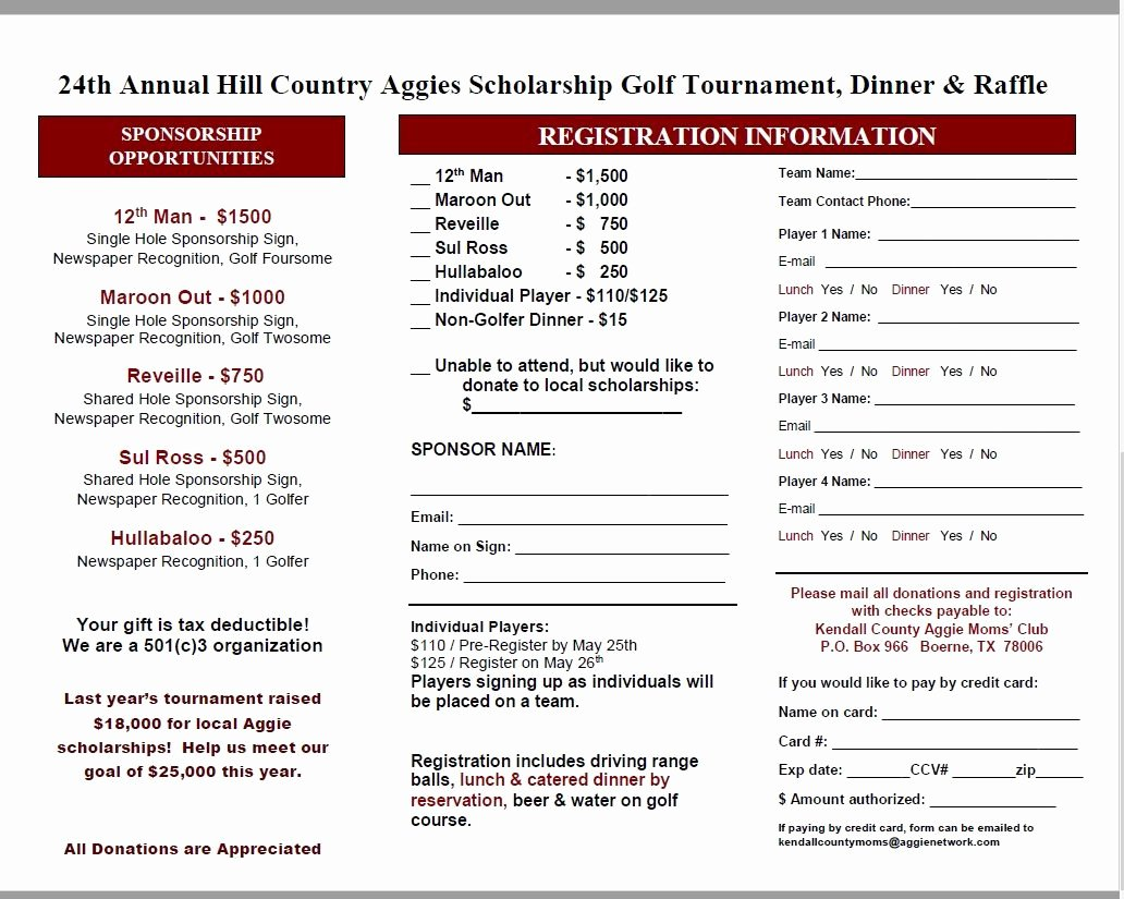 Golf tournament Fundraiser Flyer Inspirational Annual Golf tournament Fundraiser – Kendall County Aggie Moms Club