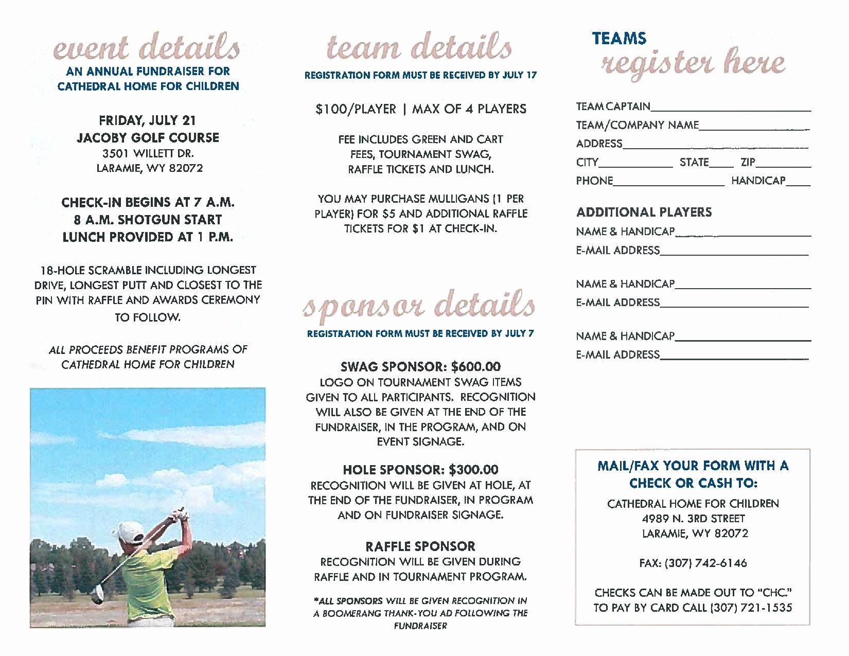 Golf tournament Fundraiser Flyer Luxury Cathedral Home's Golf tournament Fundraiserunited Way Of Albany County