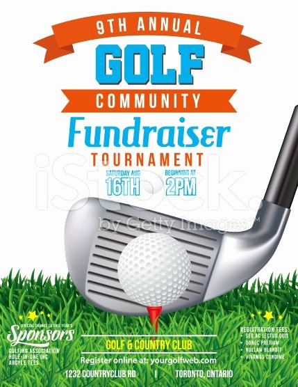 Golf tournament Fundraiser Flyer New Golf Fundraiser tournament Template there is Grass at the Bottom