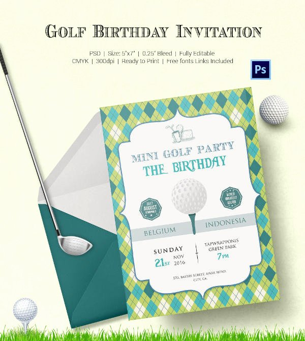 Golf tournament Invitation Template Free Awesome 25 Fabulous Golf Invitation Templates & Designs