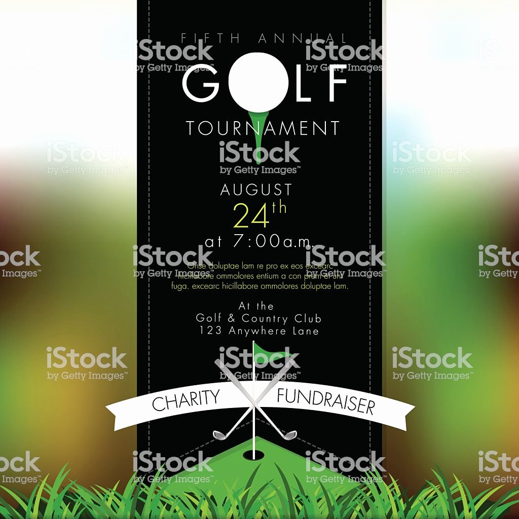 Golf tournament Invitation Template Free Awesome sophisticated Golf tournament Invitation Design Template Bokeh Stock Vector Art & More