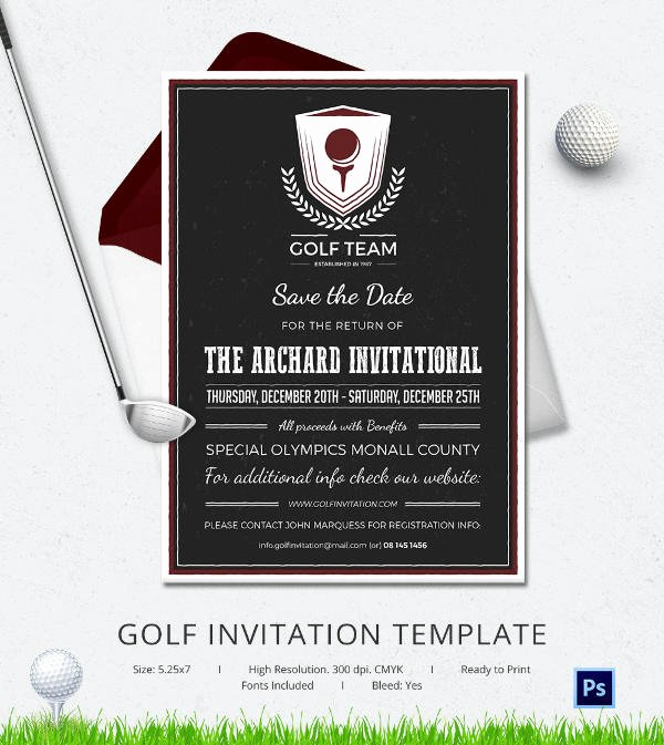 Golf tournament Invitation Template Free Beautiful 25 Fabulous Golf Invitation Templates & Designs